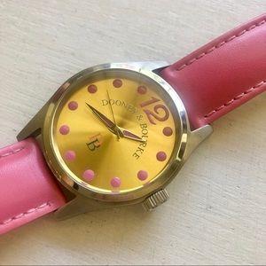 Dooney & Bourke pink genuine leather watch